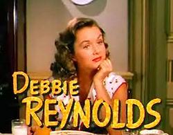 Reynolds i trailern till Dansa med mej från 1953.