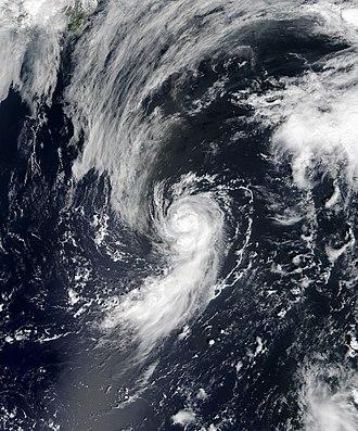 2018 Atlantic hurricane season - Image: Debby 2018 08 08 1430Z