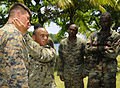 Defense.gov News Photo 100517-N-9643W-323 - U.S. Marine Corps Sgts. Edan Valkner left and Juan Martinez demonstrate a ground fighting technique for Marines embarked aboard High Speed Vessel.jpg