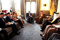Defense.gov News Photo 110312-D-XH843-001 - Secretary of Defense Robert M. Gates meets with the Crown Prince of Bahrain Salman bin Hamad al-Khalifa at Riffa Palace in Bahrain on March 12.jpg