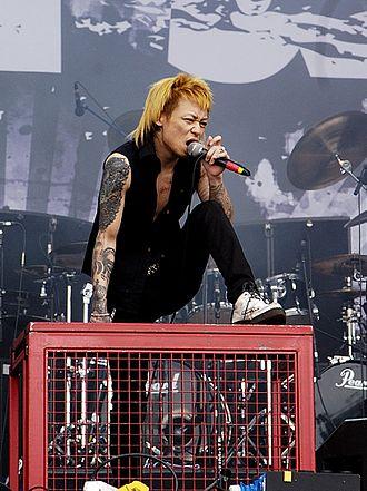Dir En Grey - Kyo performing live at Rock im Park in 2006.