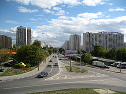 Вид на начало улицы от алтуфьевского
