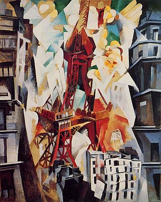 Robert Delaunay - Champs de Mars, La Tour rouge, 1911, Art Institute of Chicago.
