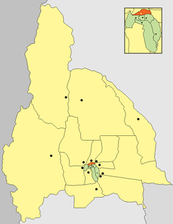 location of Departamento Chimbas in San Juan Province
