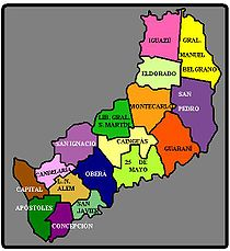Misiones Province Wikipedia - Argentina misiones map