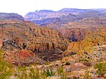 Tonto National Forest canyons from above.