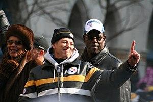 John Mitchell (American football coach) - Joyce and John Mitchell flanking Dick Lebeau.