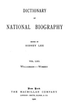 Dictionary of National Biography volume 62.djvu