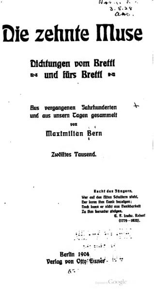 File:Die zehnte Muse (Maximilian Bern).djvu