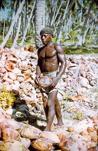 Diego Garcia - A Chagossian photographed by a US National Geodetic Survey team in 1969