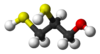 Ball and stick model of dimercaprol ((2R)-2-sulfanyl)