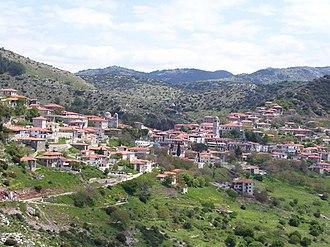 Dimitsana - View of Dimitsana from the north