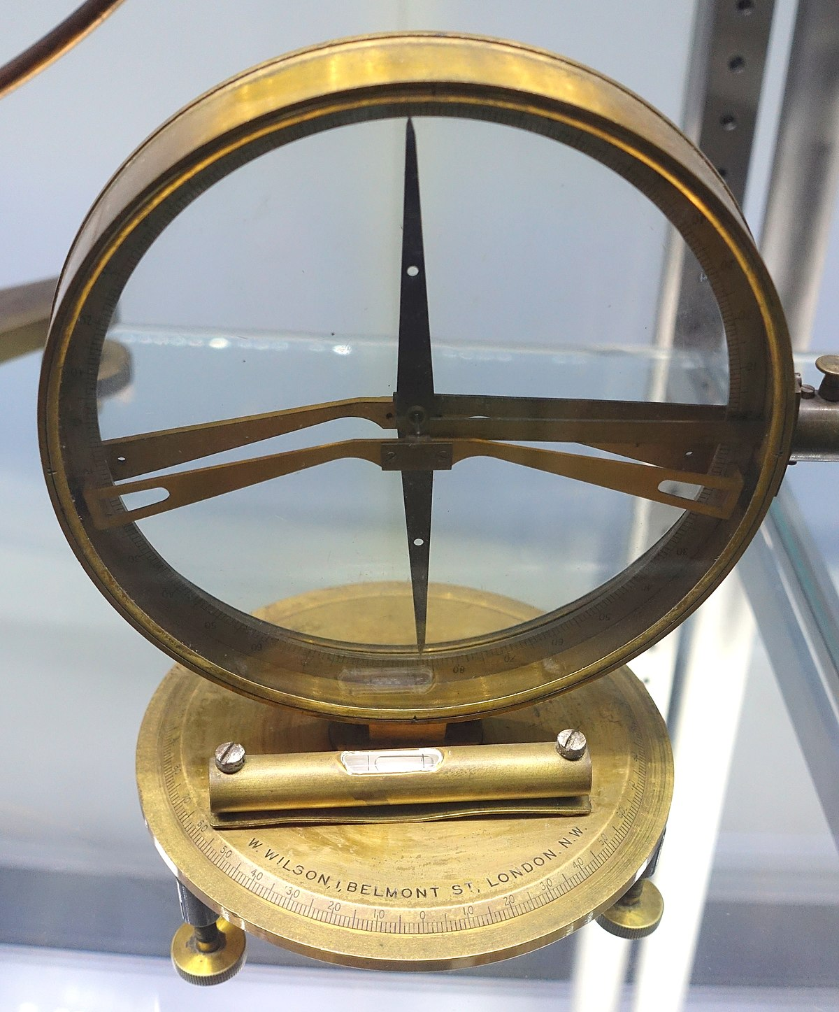 Magnetic Inclination Measuring Instrument For : Dip circle wikipedia