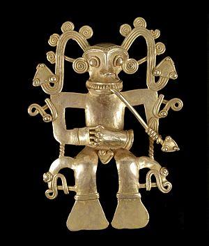 Diquis - A Diquis human effigy pendant