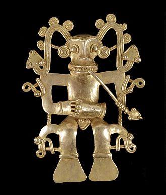 Pre-Columbian history of Costa Rica - Image: Diquis Human Effigy Pendant