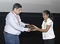 Director Kamran Gasimov of the film Bloody January being felicitated at the 46th International Film Festival of India (IFFI-2015), in Panaji, Goa on November 26, 2015.jpg