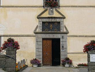Disentis Abbey - Image: Disentis Klosterpforte