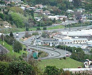 Dunedin Southern Motorway - The Dunedin Southern Motorway snakes its way south past Burnside and Green Island