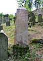 Dolní Žandov, Úbočí, gravestone in Jewish cemetery.jpg