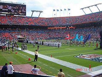 2007 Miami Dolphins season - Pregame ceremony, week 10