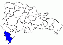 Location of the Pedernales Province