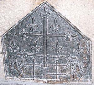 Fireplace fireback - Image: Domrémy plaque de cheminée