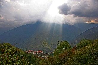Trongsa Dzong - Panorama of Trongsa Dzong.