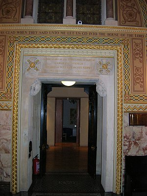 St Christopher's Chapel, Great Ormond Street Hospital - The doorway leaving St Christopher's Chapel