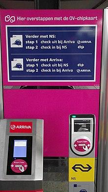 ov kaart trein OV chipkaart   Wikipedia
