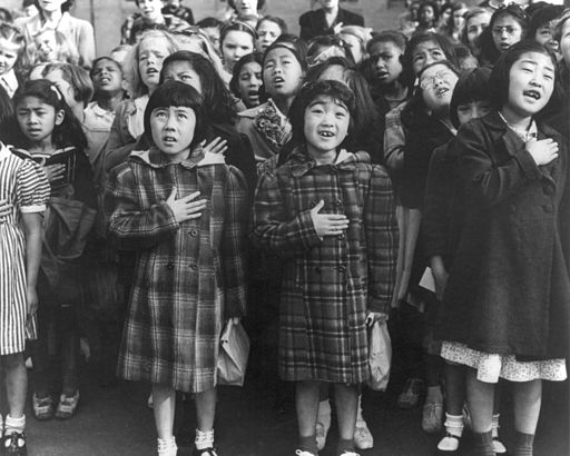 Dorothea Lange pledge of allegiance