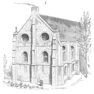 Chelles Abbey - Eugène Viollet-le-Duc's reconstruction of the 13th-century dormitory at Chelles