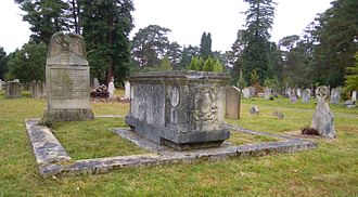 Douglas Vickers - The Vickers family plot at Brookwood Cemetery