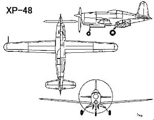 Douglas XP-48 - Image: Douglas XP 48 drawing