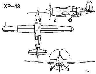 Douglas XP-48 - Image: Douglas XP 48 drawing