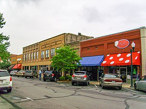 National Register of Historic Places listings in Clark County, Arkansas - Image: Downtown Arkadelphia, AR 001