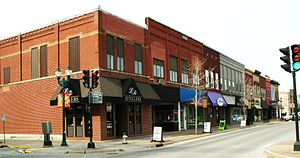 Cedar Falls, Iowa - Downtown Main Street, 2010