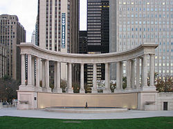 Millennium Monument in Wrigley Square
