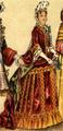 Dräkt, Fransk adelsdam med fontang, Nordisk familjebok.png