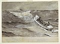 "Drawing, The Life Boat, study for watercolor, ""Wreck of the 'Iron Crown'"", 1881 (CH 18173815).jpg"