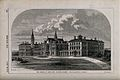 Dulwich College; the buildings of the new school. Wood engra Wellcome V0013169.jpg