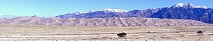 Sangre de Cristo Range - The Sangre de Cristo Range rising above the Great Sand Dunes National Park