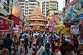 Durga Puja Pandal with Spectators - Singhi Park - Ramani Chatterjee Road - Kolkata 2014-10-02 8994.JPG