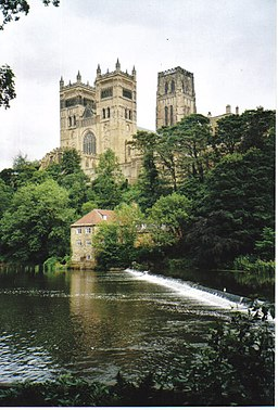 Durham Cathedral from across the weir. - geograph.org.uk - 237615