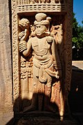 Dvarapala - South Face - North Pillar - East Gateway - Stupa 1 - Sanchi Hill 2013-02-21 4438.JPG
