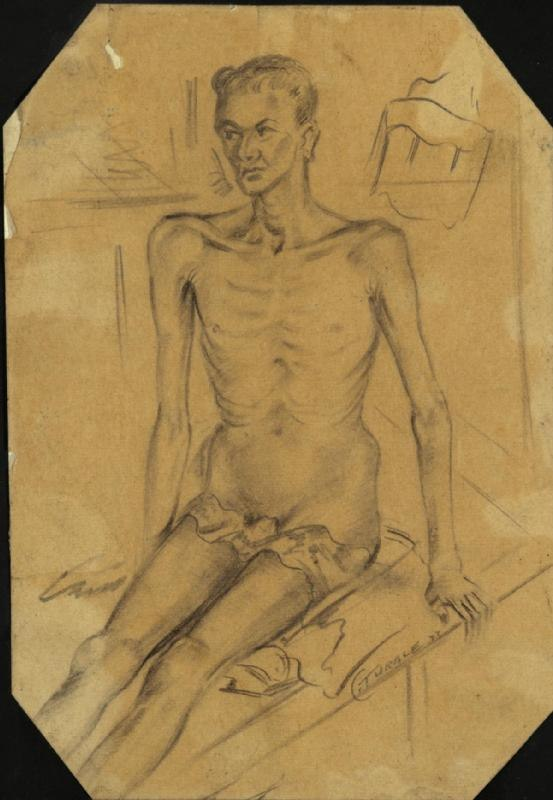 Dysentery Patient, Burma Hospital, Siam Art.IWMART1541787