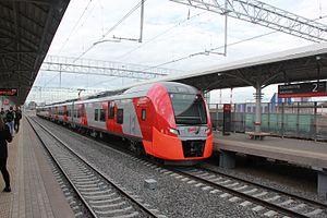 Lokomotiv (Moscow Central Circle) - Image: ES2G 033, Locomotive platform