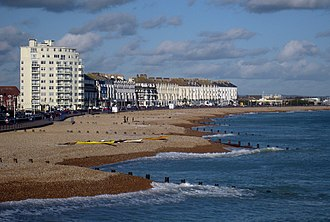 Eastbourne - The beach at Eastbourne