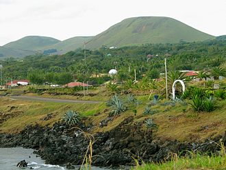 Climate of Chile - View toward the interior of Easter Island