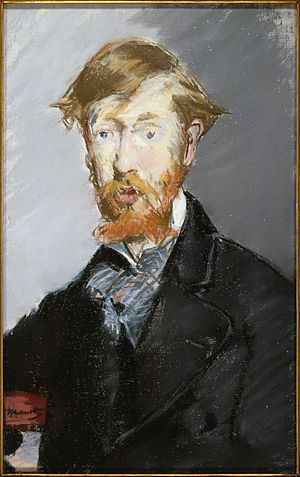 George Moore (novelist) - Portrait by Édouard Manet, 1879