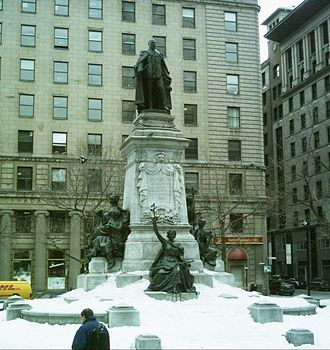 Monarchy in Quebec - Image: Edouard VII Montreal